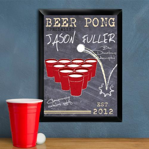 Personalized Beer Pong Traditional Sign - Specialist