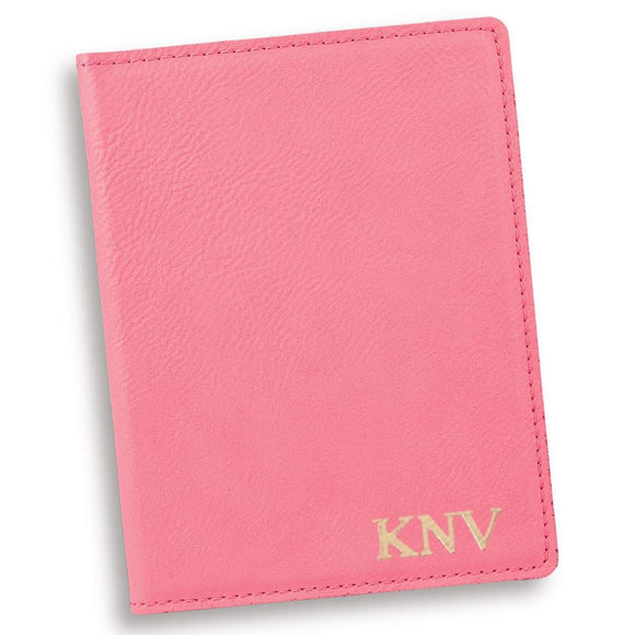Personalized Pink Passport Holder