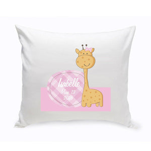 Personalized Baby Nursery Giraffe Throw Pillow