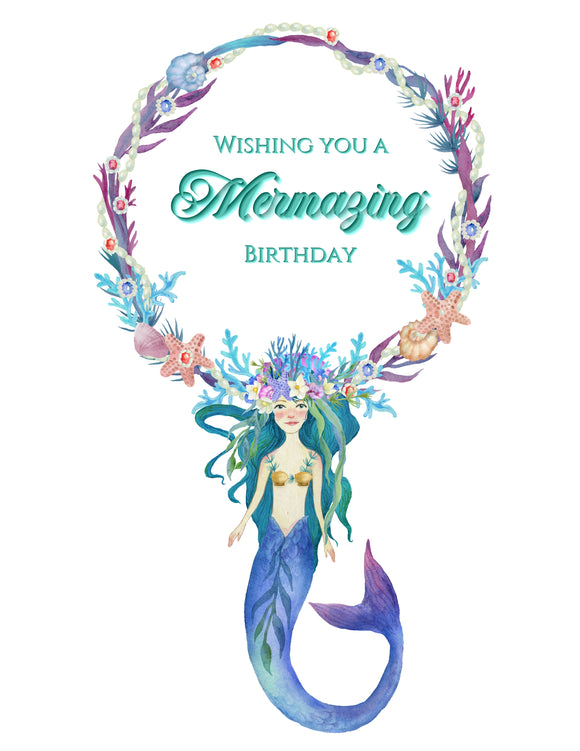 Mermazing Birthday Card