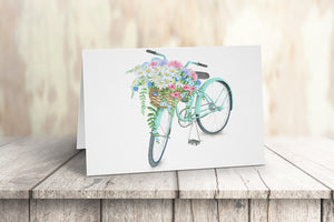 Turquoise Bicycle Note Cards