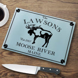 Personalized Cutting Boards - Glass - Cabin Decor - Cabin Series