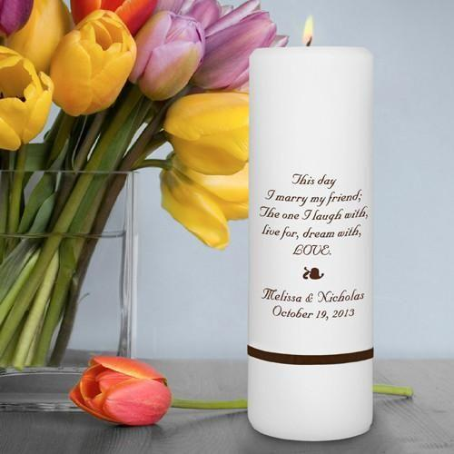 Personalized Wedding Candle - Unity Candle - Personalized 3