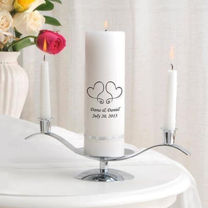Personalized Premier Wedding Unity Candle w/Stand