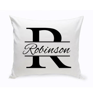 Personalized Stamped Design Throw Pillow