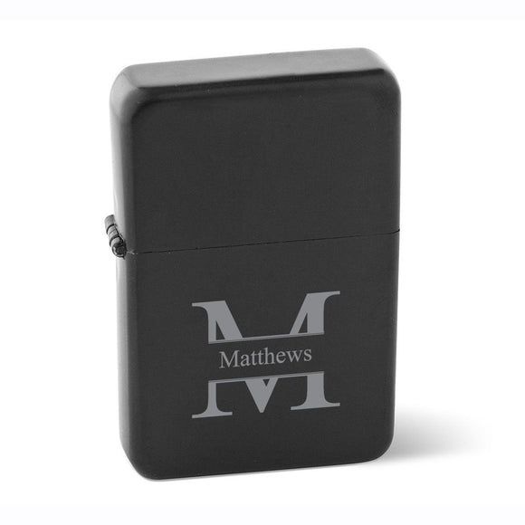 Personalized Lighters - Wind Proof - Matte Black - Groomsmen Gifts