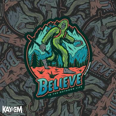 Bigfoot Believe Sticker