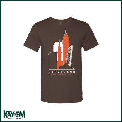 Building CLE Brown T-Shirt