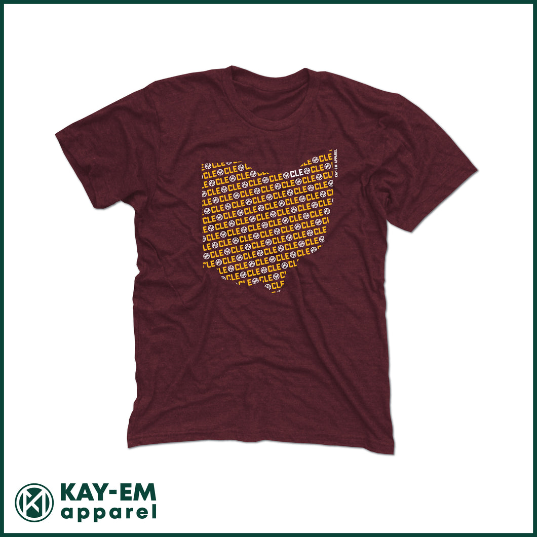 CLE State Basketball Maroon T-Shirt