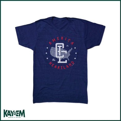 CLE Monogram Navy T-Shirt