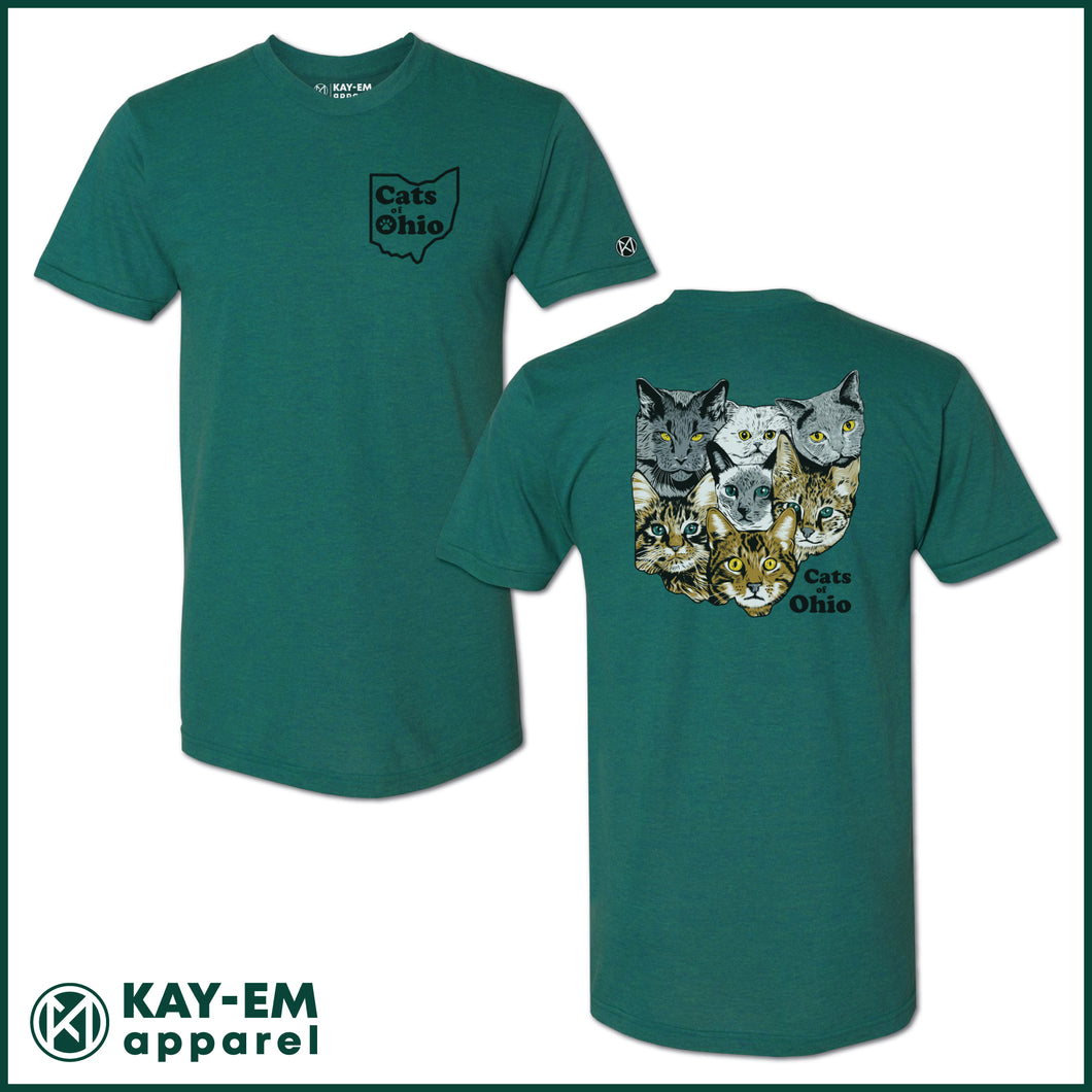 Cats of Ohio Evergreen T-Shirt