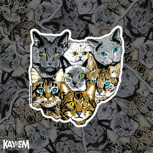 Cats of Ohio Sticker