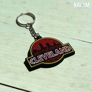 Cleveland Badge Keychain