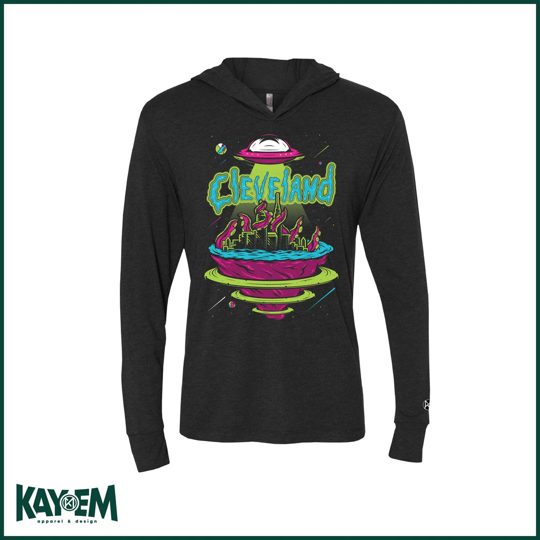 Cleveland Galaxy Black Hooded T-shirt