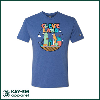 Colorful Cleveland Royal T-Shirt