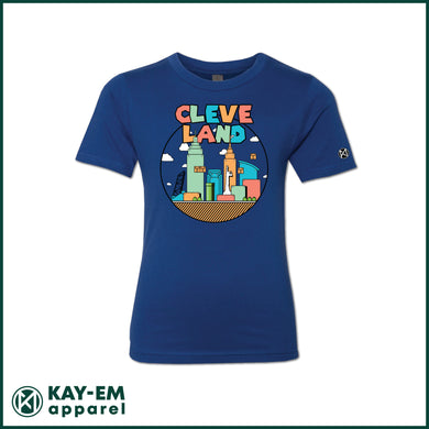 Colorful Cleveland Youth Tee