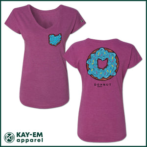 Donut Women's Raspberry V-Neck