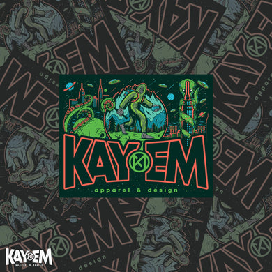Kay-Em Monster Sticker