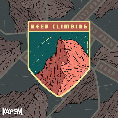 Keep Climbing Sticker