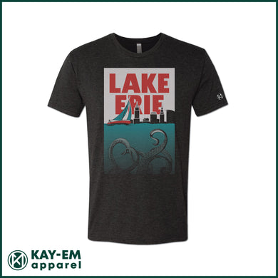 Lake Erie Monster Black T-Shirt