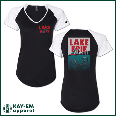 Lake Erie Monster Women's V-Neck