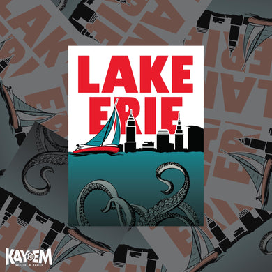 Lake Erie Monster Sticker