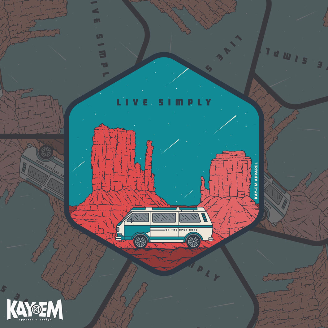 Live Simply Sticker