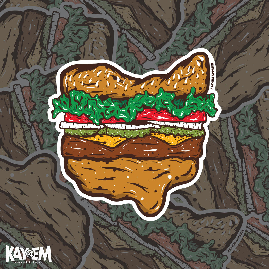 Ohio Burger Sticker