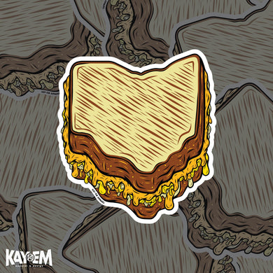 Ohio Grilled Cheese Sticker