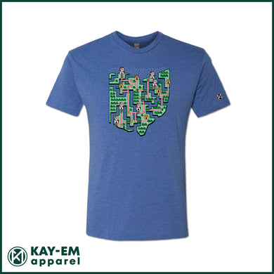 Ohio Map Royal T-Shirt