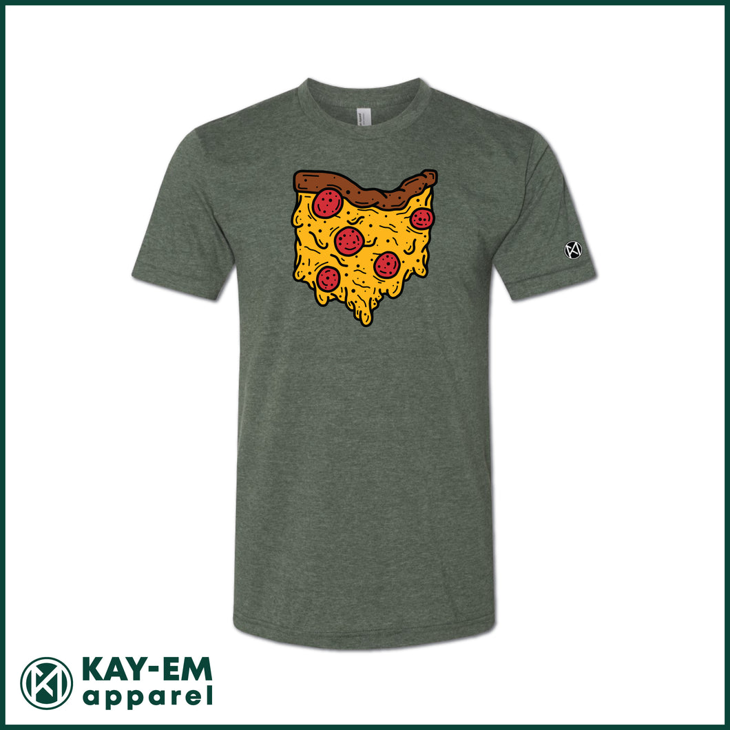 Ohio Pizza Heather Forest T-Shirt