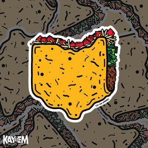 Ohio Taco Sticker
