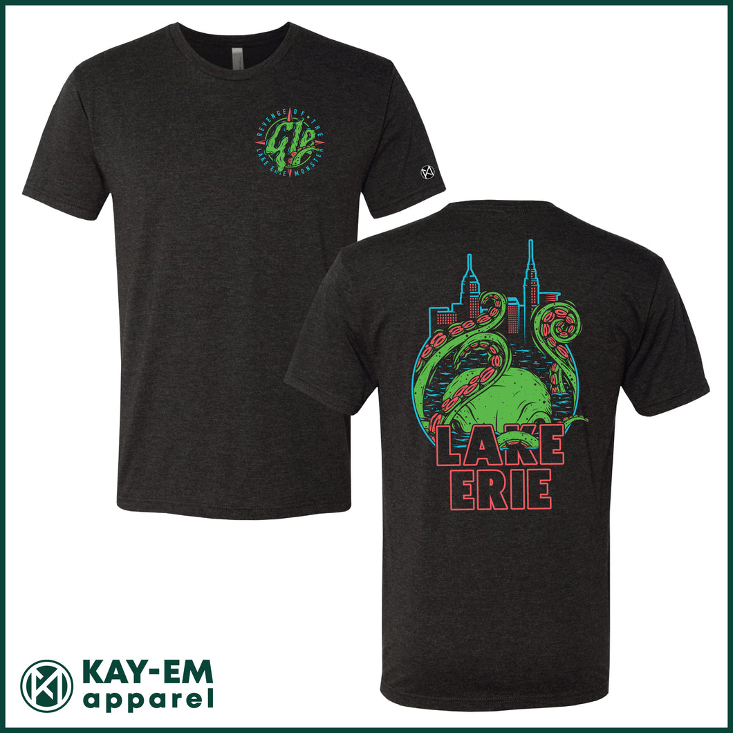Revenge of the Lake Erie Monster Black T-Shirt