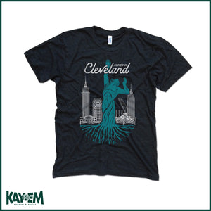 Rooted in Cleveland Black T-Shirt
