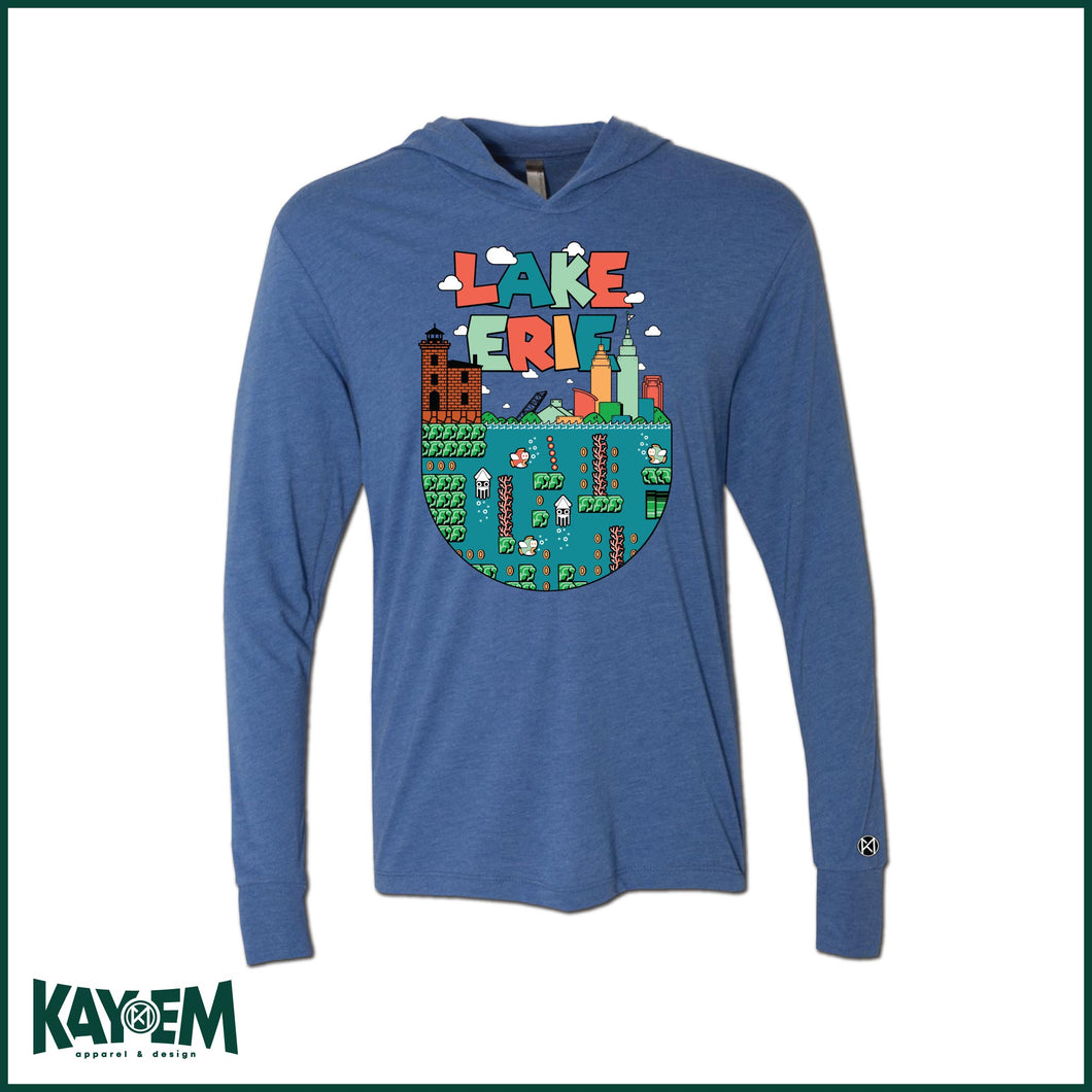Super Lake Erie Royal Hooded T-shirt