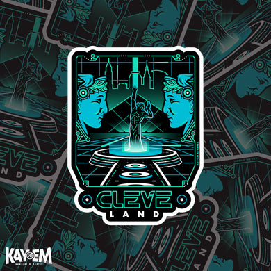 Tron CLE Holographic Sticker