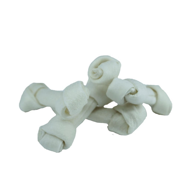 "5 Pack Rawhide 2.5"" Dog Knots - Wild Pet Supply"