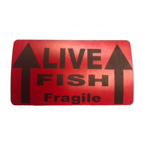 LIVE FISH SHIPPING STICKER - Wild Pet Supply