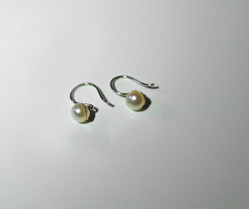 Drop Pearls, Silver White Pearls, Cheap toronto pearl earrings, toronto pearls, toronto jewellery