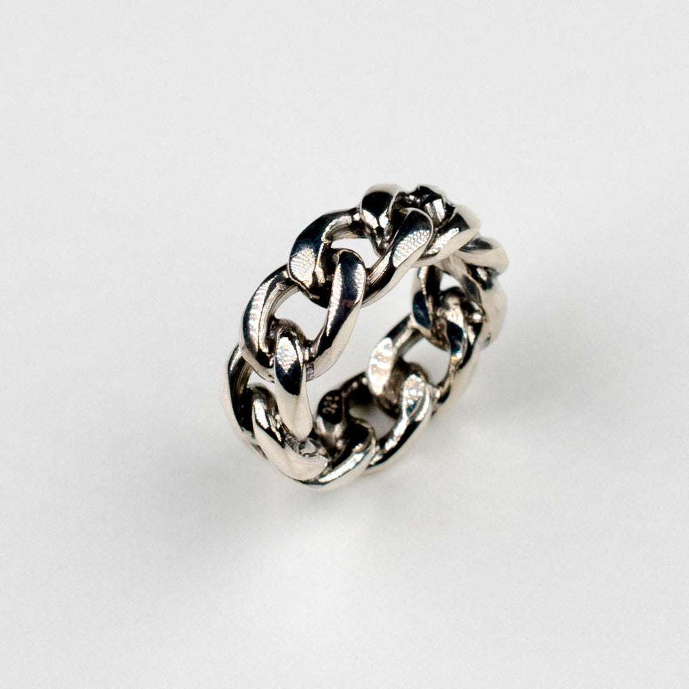 Bold Chain Ring | Silver