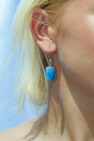 Load image into Gallery viewer, Dangling Lapis Earrings