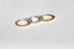 Bubble Stacker Ring | 10k Yellow/White/Rose Gold, Silver