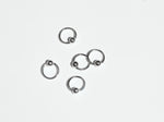 Captive Bead Nose Ring Hoop | Silver