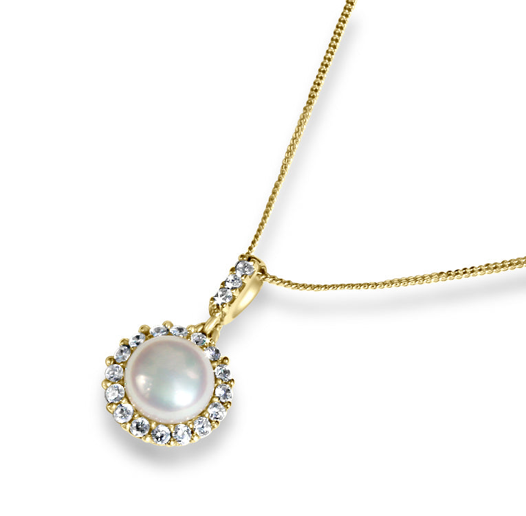 Pearl Pendant Necklace | 10k Gold | 20""