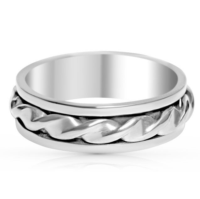 Braided Spinner Ring
