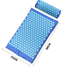 Load the image into the gallery viewer, Acupressure pain relief mat with pillow