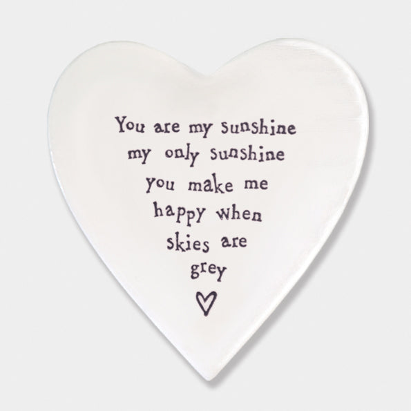 Porcelain 'You Are My Sunshine' Coaster