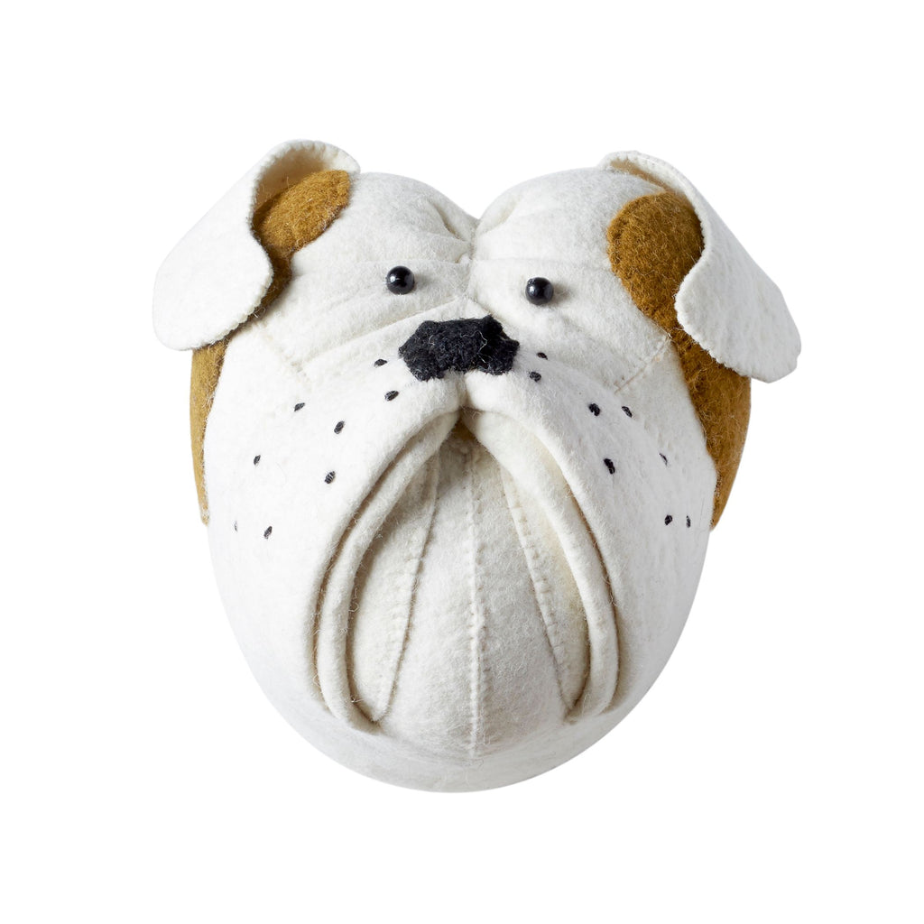 Felt Bulldog Head