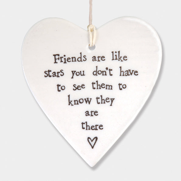 Porcelain 'Friends Are Like Stars'  Ornament