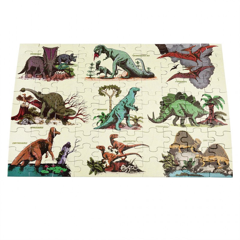 100 Piece Puzzle Glow In Dark Dinosaurs
